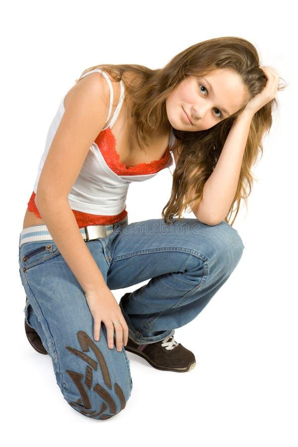 女孩少年年轻人 库存图片
