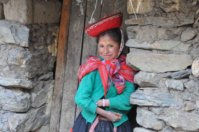 女孩少许秘鲁 库存照片