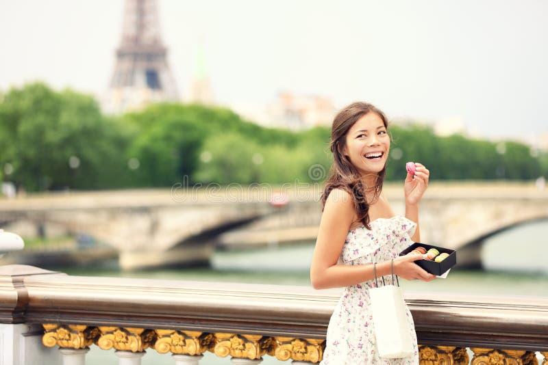 女孩巴黎 库存照片