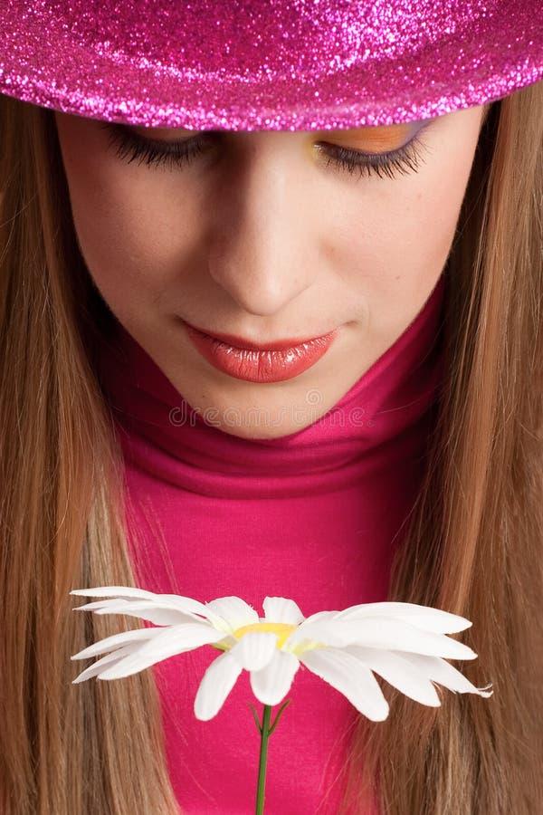 女孩帽子粉红色 库存照片