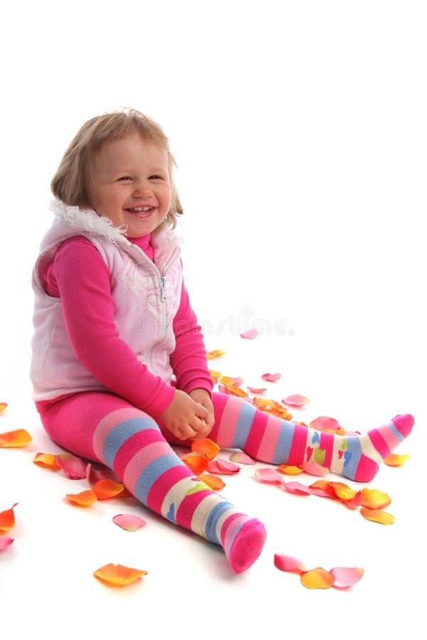 女孩幸福一点 免版税库存照片