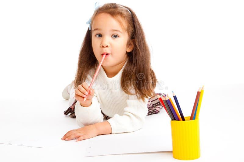 女孩幼稚园 免版税库存图片