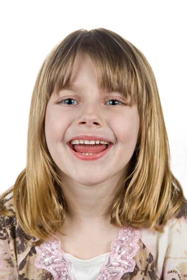 女孩微笑的一点 库存照片