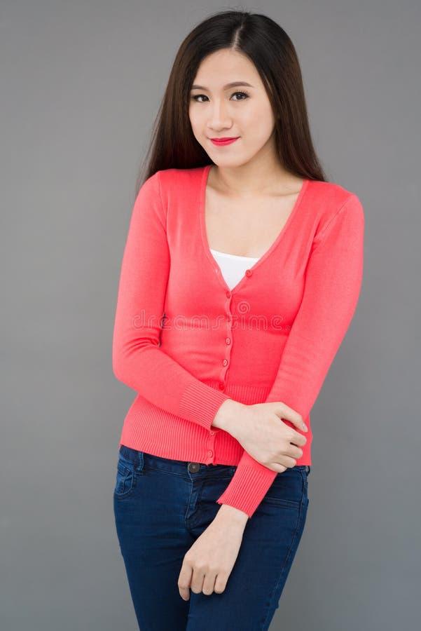 女孩微笑的越南语 免版税库存图片