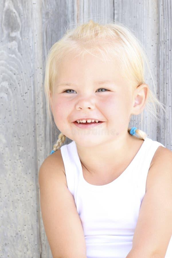 女孩微笑 库存照片