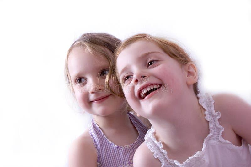 女孩微笑 库存图片