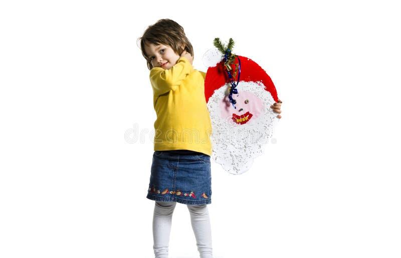 女孩快乐的纵向 库存照片