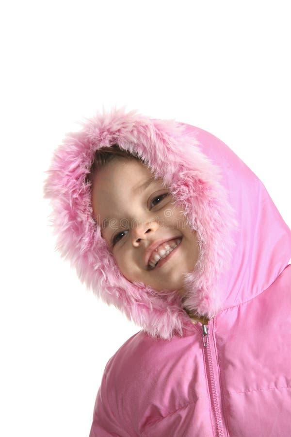 女孩快乐的纵向 库存图片