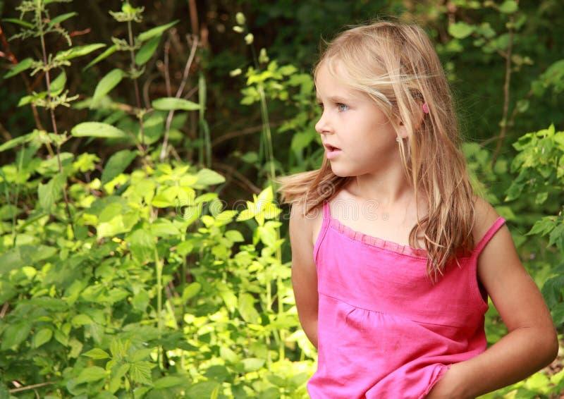 女孩惊奇的一点 图库摄影