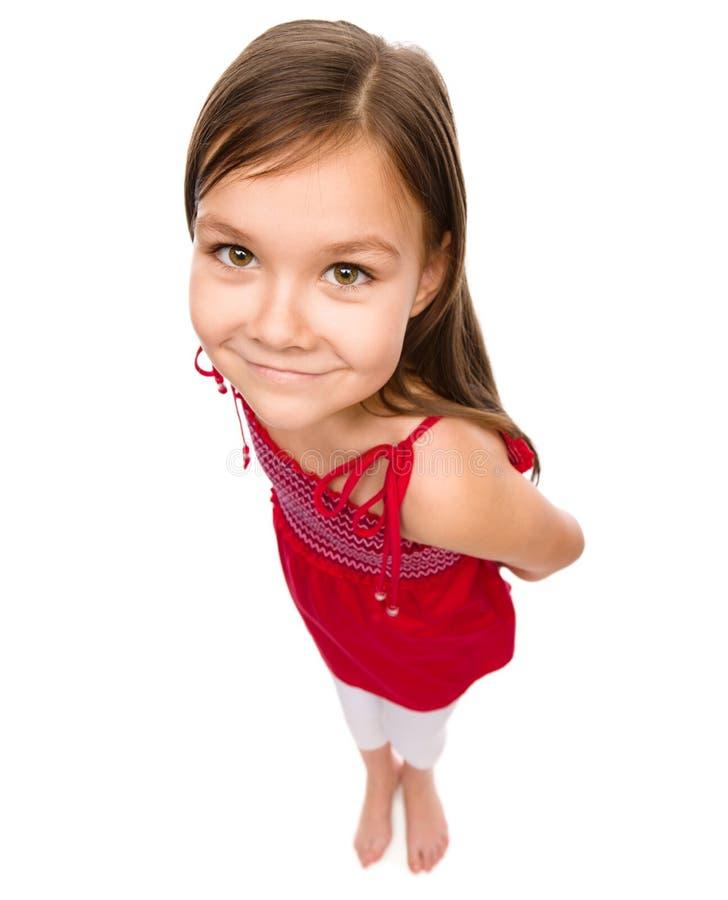 女孩愉快的小的纵向 免版税库存图片