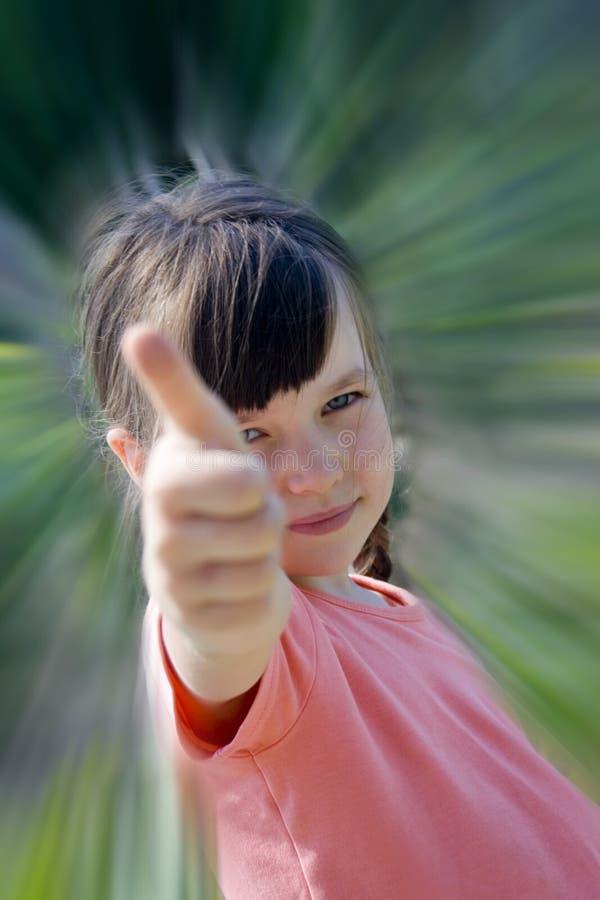女孩成功 免版税图库摄影