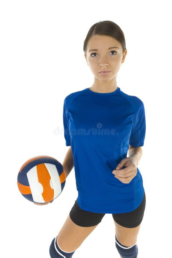 女孩排球 库存照片