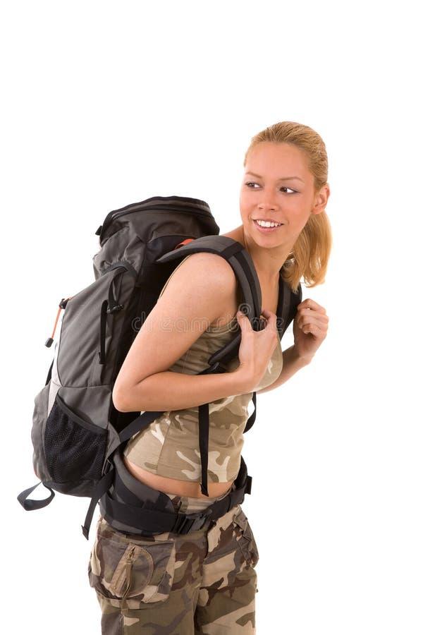 女孩旅行 免版税库存照片