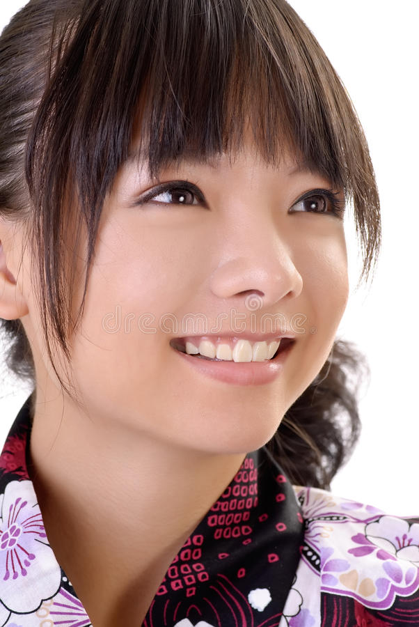 女孩日本人微笑 免版税库存照片