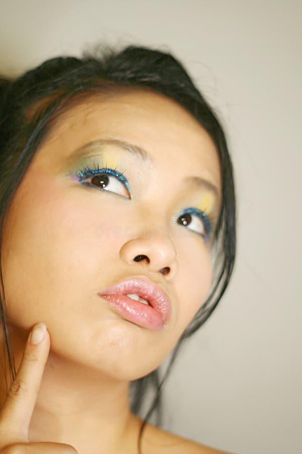 女孩日语 库存照片
