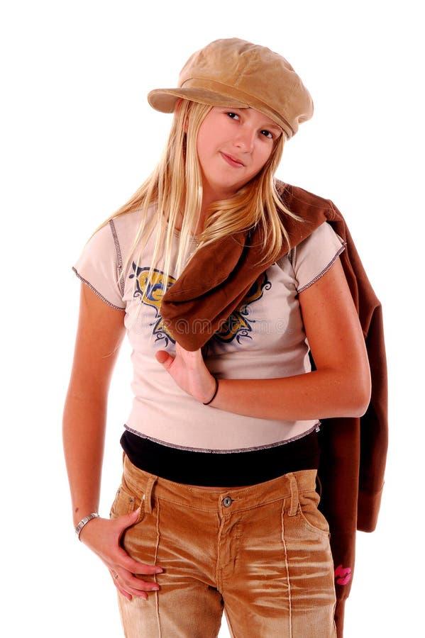 女孩时髦年轻人 免版税库存照片