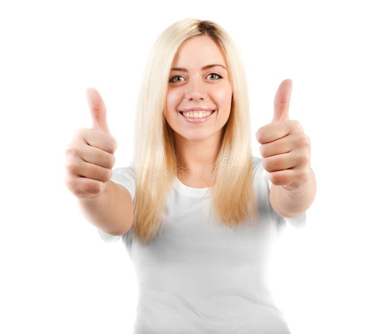 女孩显示略图二白色 免版税库存图片