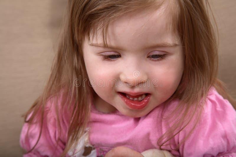 女孩有残障的纵向 免版税库存图片