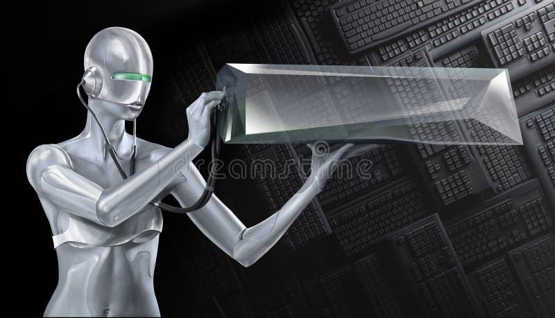 女孩机器人 库存图片