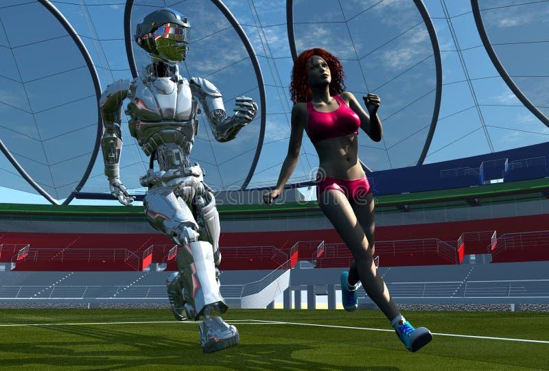 女孩机器人 库存例证