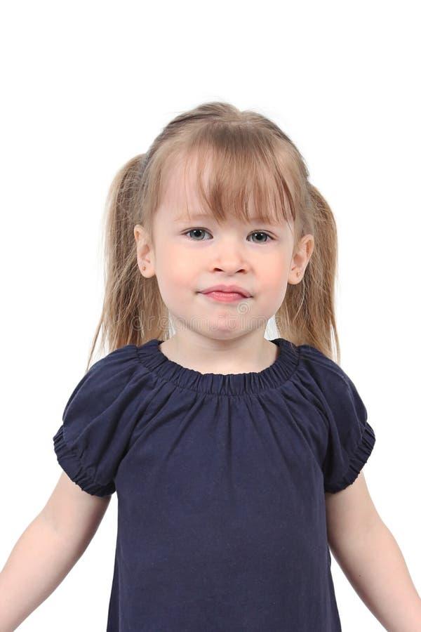 女孩查出的年轻人 免版税库存照片