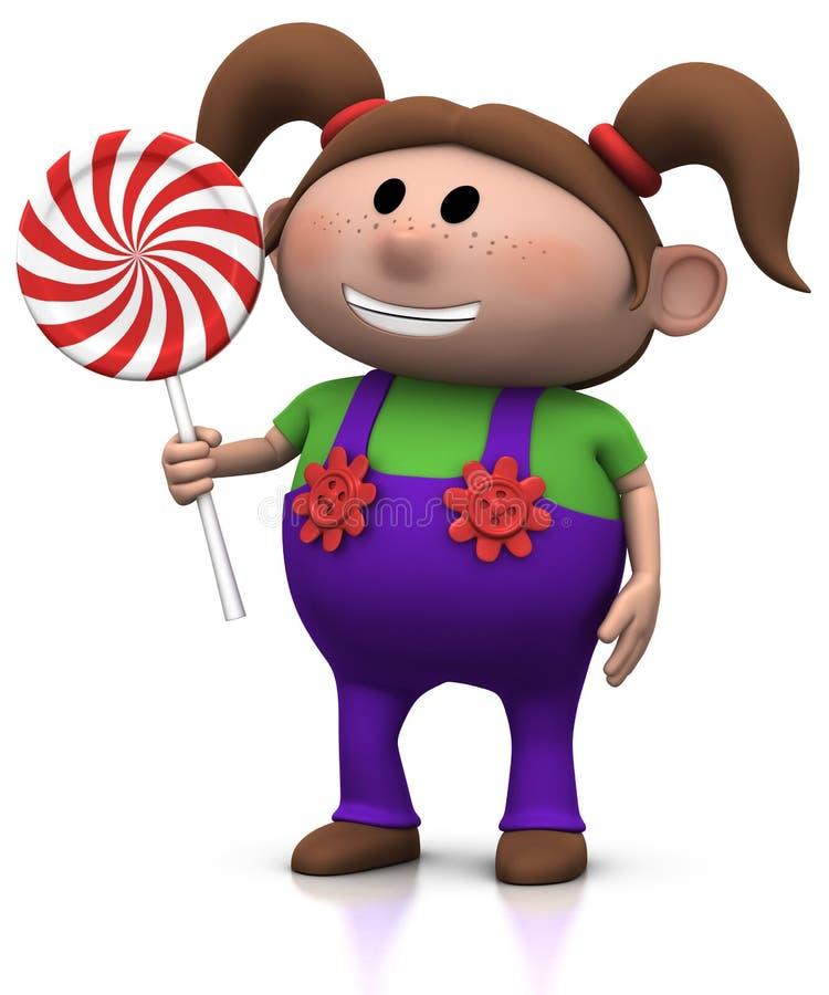 Download 女孩棒棒糖 库存例证. 插画 包括有 火炮, 棒棒糖, 糖果, 雀斑, 人们, 人力, 粗蓝布工装, 健康 - 15682626