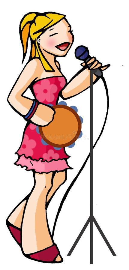 女孩歌唱家 皇族释放例证