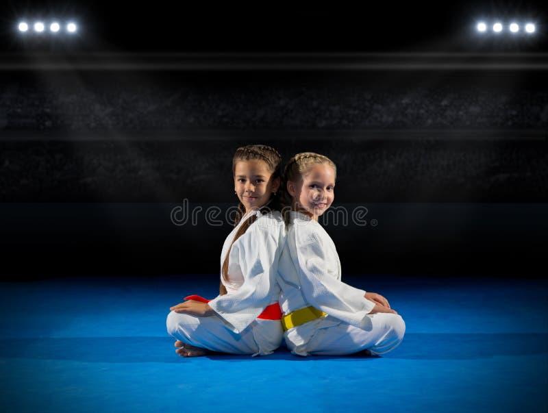 女孩武术战斗机 库存图片