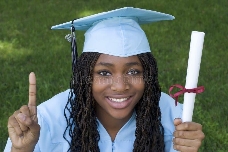 女孩毕业生 免版税图库摄影