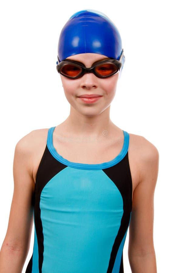 女孩泳装 免版税库存照片
