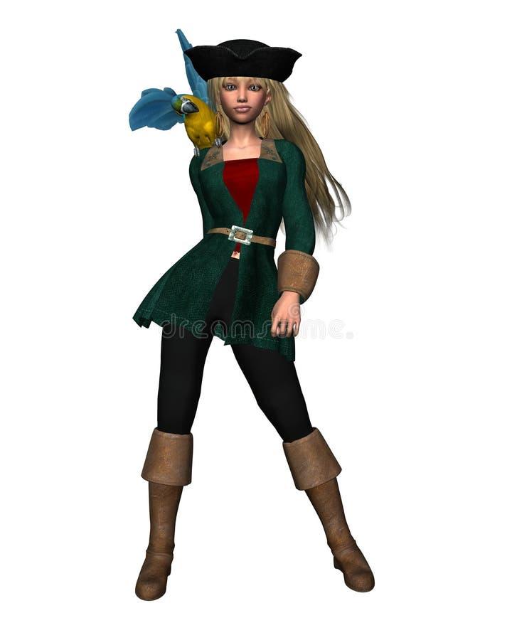 女孩海盗 皇族释放例证