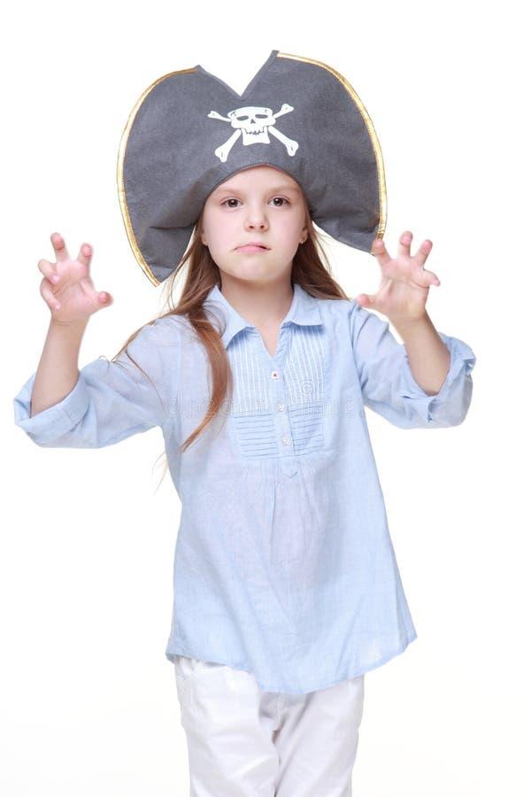 女孩海盗 库存图片