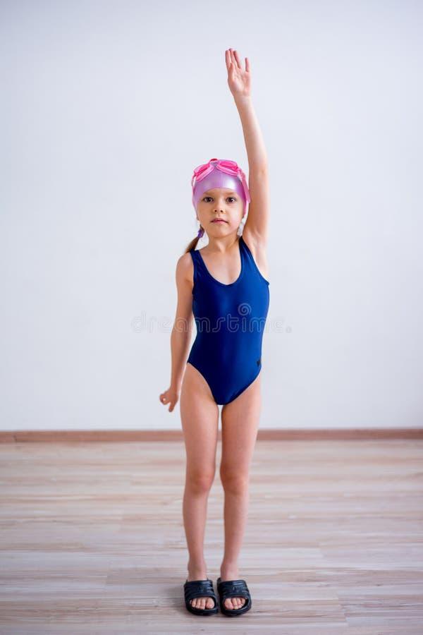 女孩游泳者运动员 库存图片