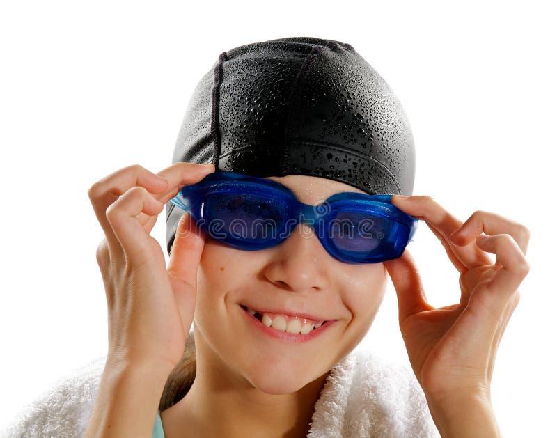 女孩游泳者 库存图片