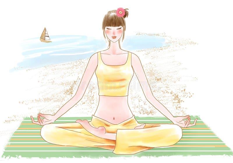 女孩瑜伽 图库摄影
