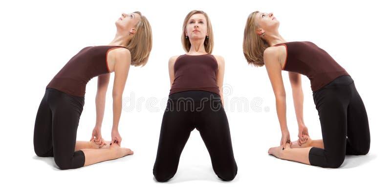 女孩的三个角度的水平的装配 免版税库存图片