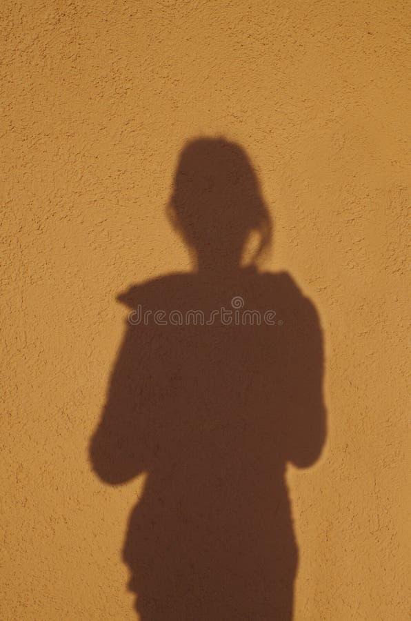 女孩的剪影 图库摄影