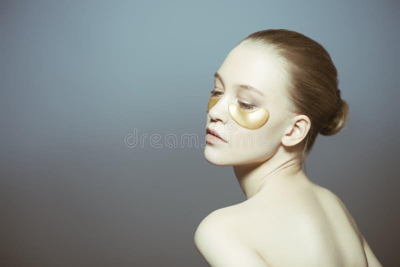 女孩的护肤 库存图片