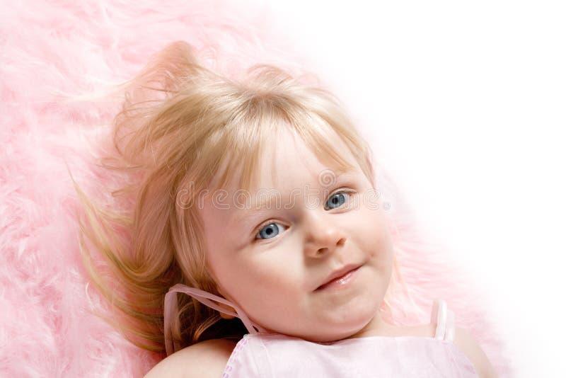 女孩粉红色 免版税库存图片