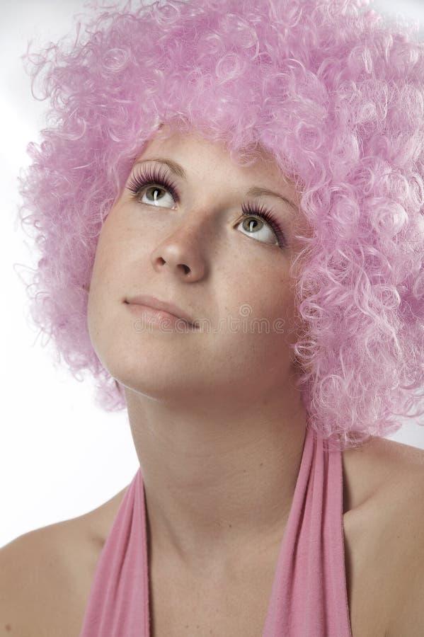 女孩粉红色 免版税图库摄影