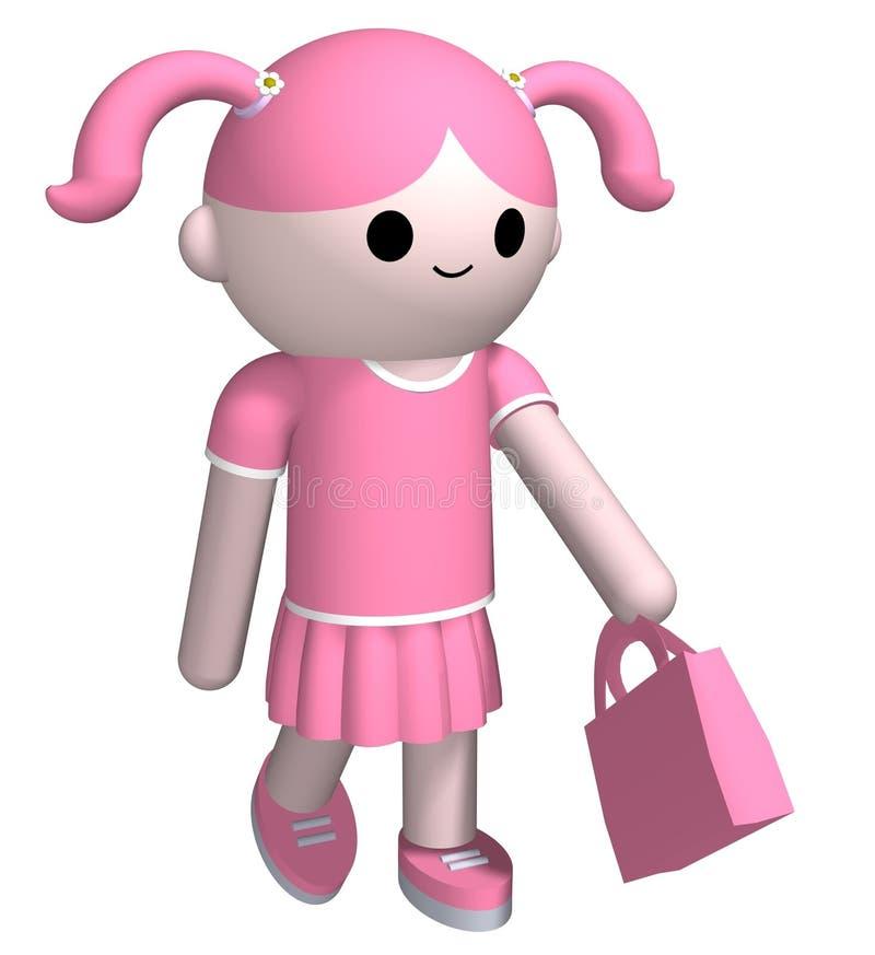 女孩粉红色 向量例证