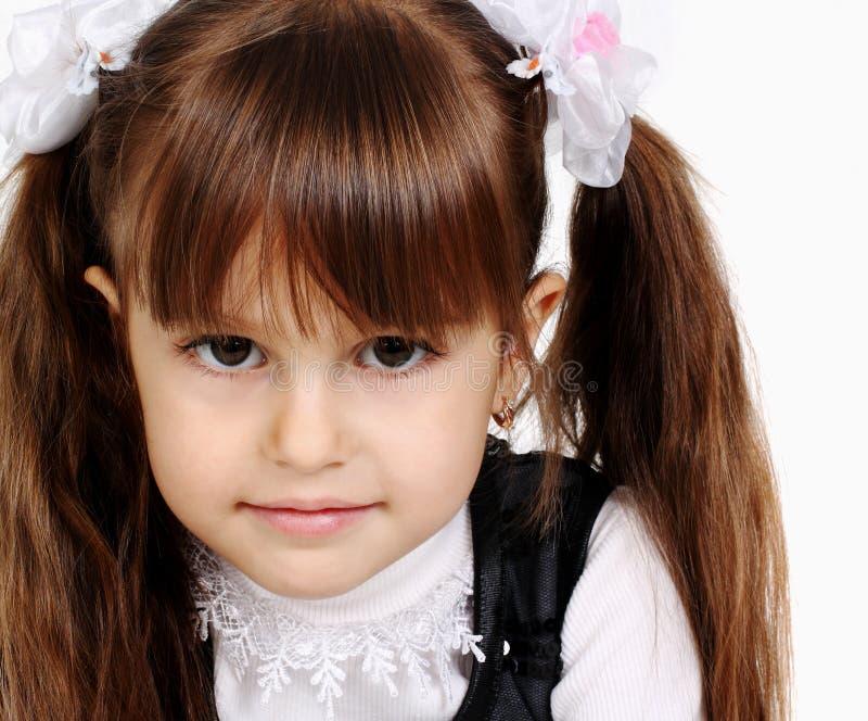 女孩纵向幼稚园 免版税图库摄影