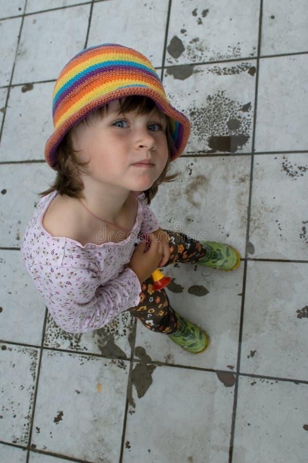 女孩纵向甜点 免版税库存照片