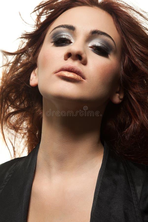 女孩纵向红头发人淫荡 图库摄影