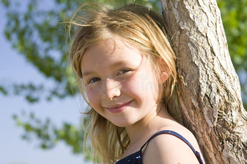 女孩老六微笑的年 图库摄影