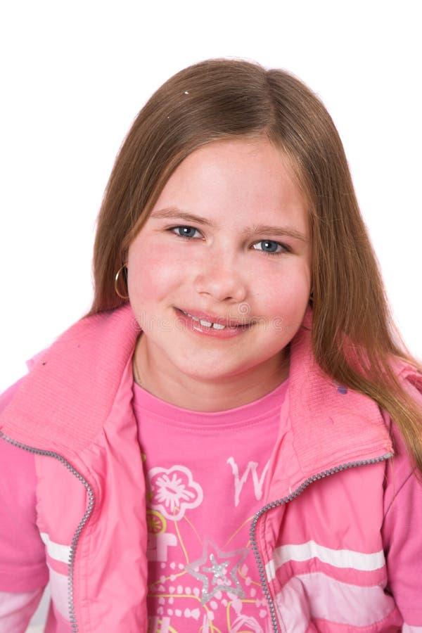 女孩老微笑十年 免版税库存图片