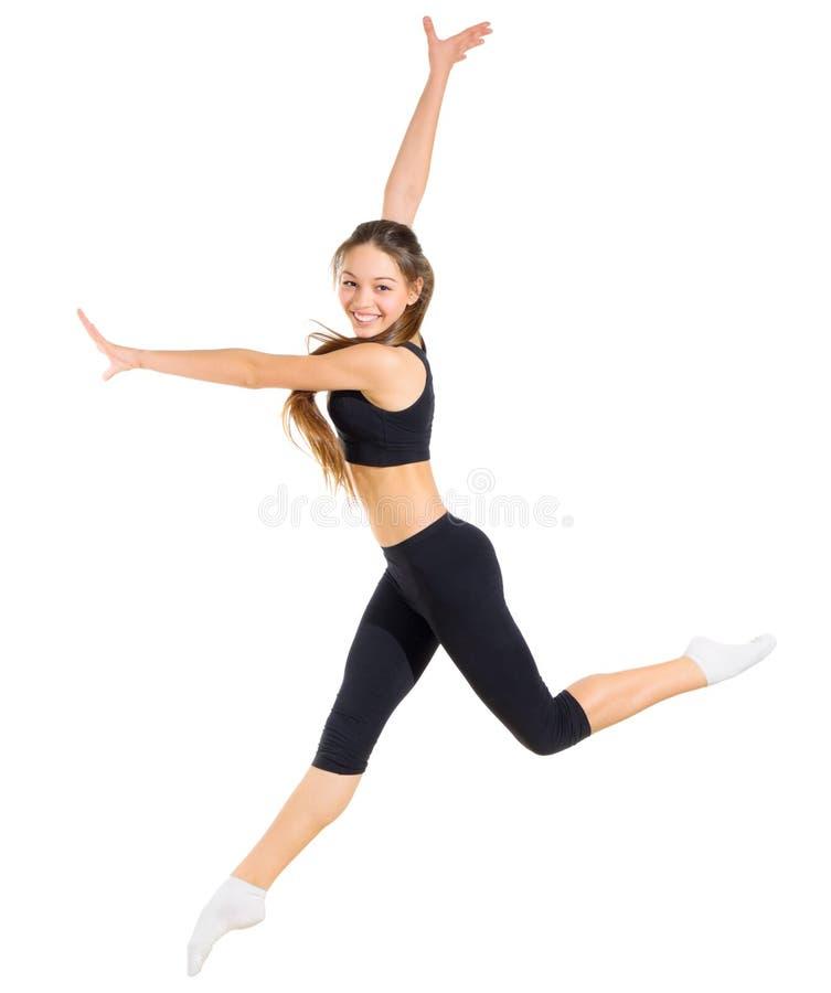 女孩舞蹈家被隔绝 图库摄影