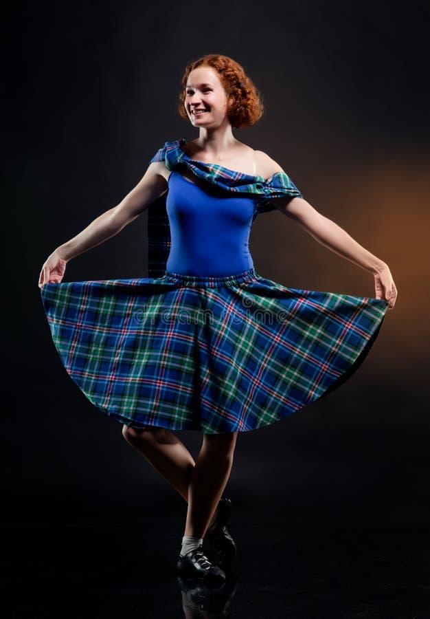 女孩苏格兰男用短裙 库存照片