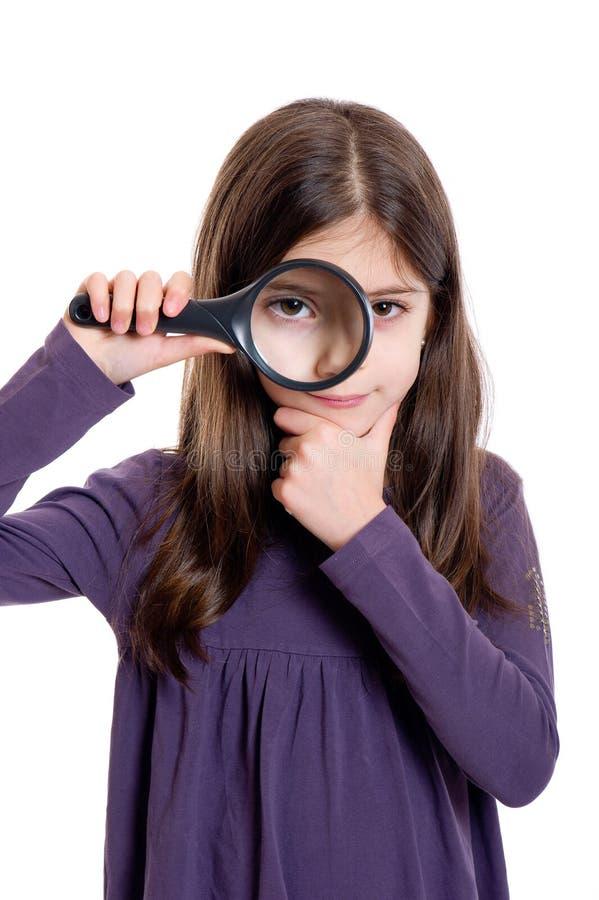 女孩藏品扩大化 库存照片