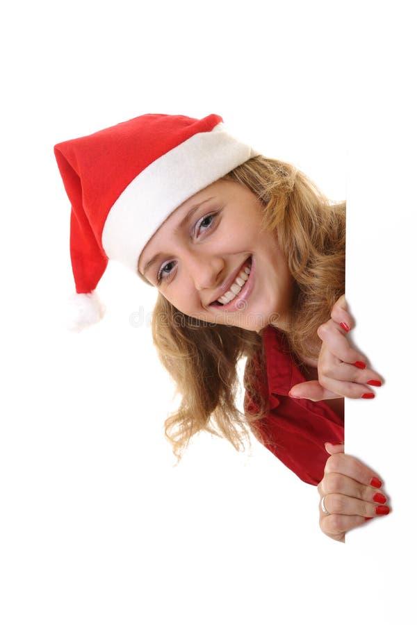 女孩藏品消息圣诞老人 库存照片